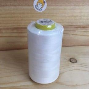 Cone Fil à coudre polyester Blanc 5000m