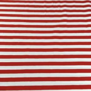 Jersey Coton Rayé Rouge x10cm