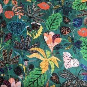 Tissu Dashwood Rayonne Gardenia Vert x 10cm