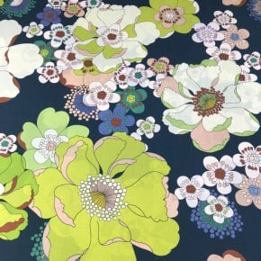 Tissu Batiste de coton Reine Fleur x10cm