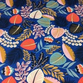 Tissu Viscose Kophical  Bleu x 10cm