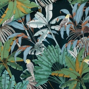 Toile de Coton Jungle green gables See You At Six x10cm