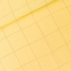 Double Gaze Thin Grid Jaune Popcorn See You At Six x10cm