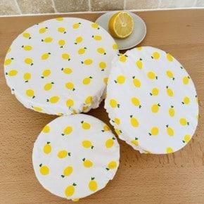Lot de 3 couvre plats Citron