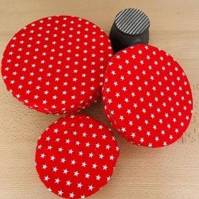 Lot de 3 couvre plats Rouge étoile