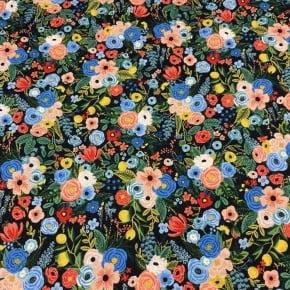 Tissu Viscose Cotton+Steel Petite Garden Party Navy x10cm