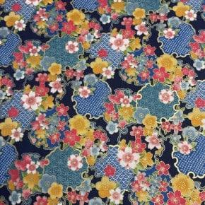Tissu Japonais Sevenberry -B  x10cm