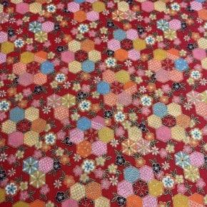 Tissu Japonais Kurenai -R  x10cm