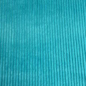 Tissu Velours Cotelé coton Turquoise x10cm