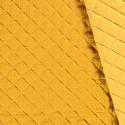 Tissu Double Gaze Matelassé Ocre x 10cm