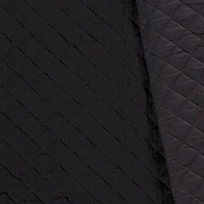 Tissu Double Gaze Matelassé Noir x 10cm