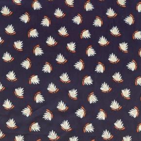 Tissu Viscose Radiance By Pénélope Plumeau Marine Lurex x10cm