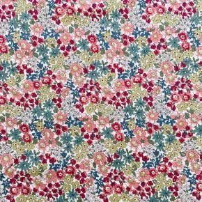 Tissu Coton Lucie Rose x10cm