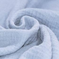 Double Gaze de coton bleu ciel by tatie fofie