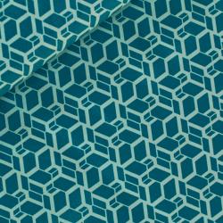 Tissu skew cube aqua by tatie fofie