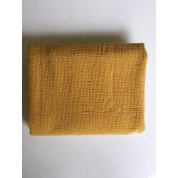 Coupon Double Gaze de coton Moutarde 45 x 130cm