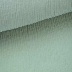 Double Gaze de coton menthe OEKO TEX x 10cm