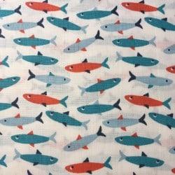 Tissu poissons  by tatie fofie