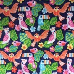 Tissu Blend Oiseau Tropicaux