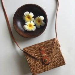Sac Balinais en rotin Rectangle