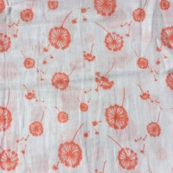 Coupon double gaze Dandelion Corail 50x125cm by tatie fofie