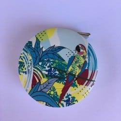 Mètre ruban enrouleur perroquet bleu Bohin