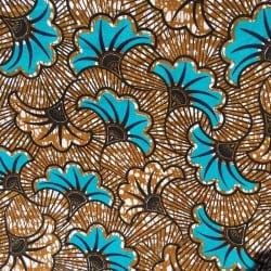 Tissu Wax Turquoise