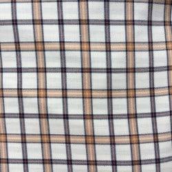 Tissu écossais à carreaux beige