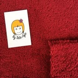 Tissu polaire pilou Rouge