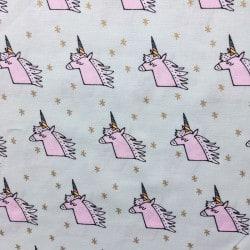 Tissu Licorne Mint x10cm